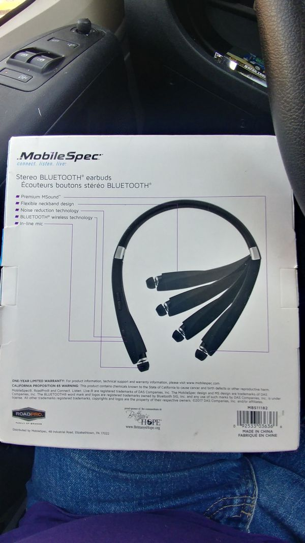 Mobile Spec stereo bluetooth earbuds...