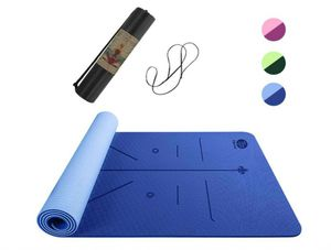 Topmat Yoga Mat,Eco Friendly TPE Non Slip Textured Surfaces Exercise & Workout Mat with Alignment Lines for Yoga(183cm x 61cm) for Sale in Rancho Cucamonga, CA