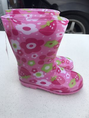 $12 rain boots for girls size 10 for Sale in Hawthorne, CA
