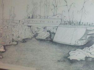 Original painting of Beardsley Park for Sale in Bridgeport, CT
