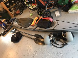 """Valley Etain 17.5"""" 2014 model with full set of kayak gear for Sale in Snohomish, WA"""