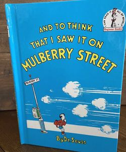 Dr. Seuss Books And To Think I Saw It On Mulberry Street for Sale in Syosset,  NY