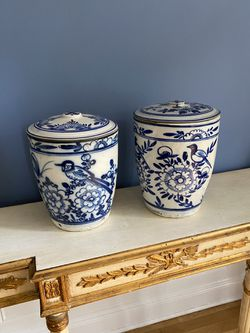 Ceramic Canisters —Pair for Sale in Washington,  DC