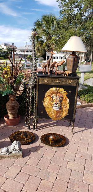 Lion Africa African safari dresser cat for Sale in NEW PRT RCHY, FL