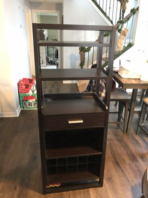Wooden Liquor Shelf/Wine Rack/Bar Combo for Sale in Geneva, IL