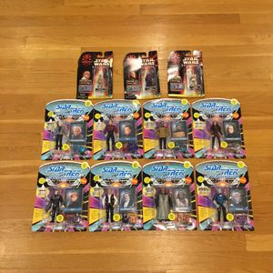 Vintage collection Star Trek / Star Wars action figure Lot MOC for Sale in Concord, MA