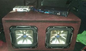 Two 10's kicker L7's -JL audio amp and crossover $300 for Sale in Dolton, IL