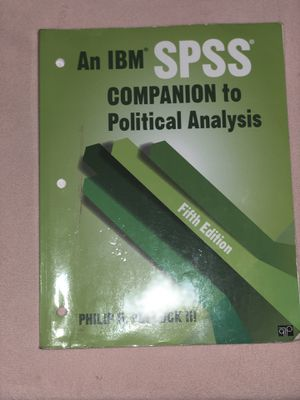 An IBM SPSS Companion to Political Analysis for Sale in San Antonio, TX