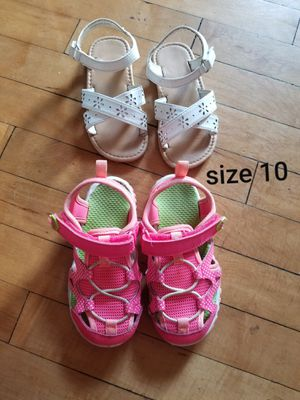 size 10 toddler girls shoes for Sale in Menasha, WI