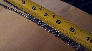 20 inch braided silver necklace for Sale in Lakewood Township, NJ