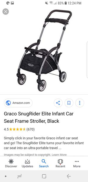 Graco SnugRide Snuglock 35 Elite Infant Car Seat with Graco compatible Frame. for Sale in Alexandria, VA