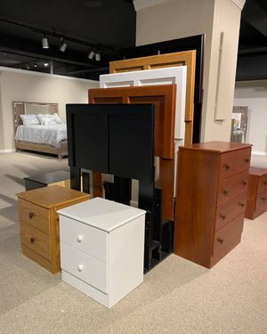 Manslough Tallboy Chest Nightstand and Headboard for Sale in Hammond, IN