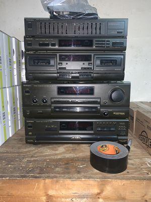5 Piece Technics System - see description and pictures - Tuner/CD player/amplifier/dual cassette/equalizer Vintage for Sale in Phoenix, AZ