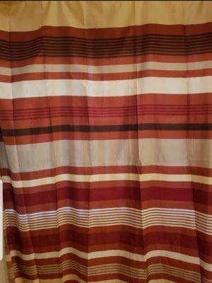 "Fabric Shower Curtain Bathroom Home Decor. Earth tones (Cream, beige, brown, rust orange, tan) 72"" × 69"". Excellent condition. for Sale in Lake Elsinore, CA"