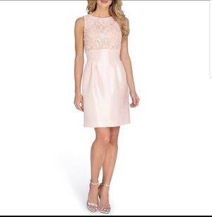 Tahari Blush Pink Embroidered Dress Size 10p for Sale in Atlanta, GA