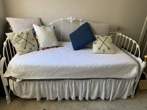 Twin trundle bed / day bed / futon with 2 mattresses for Sale in San Diego, CA