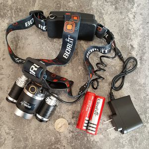 30000LM Tactical Headlight Cree XM-L T6 LED Headlamp Rechargeable+Batt+Charger for Sale in Rockville, MD