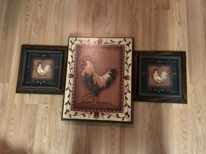 Rooster Wood frames set for Sale in Ashburn, VA