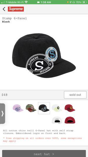 Supreme Stamp 6 Hat for Sale in Macomb, IL
