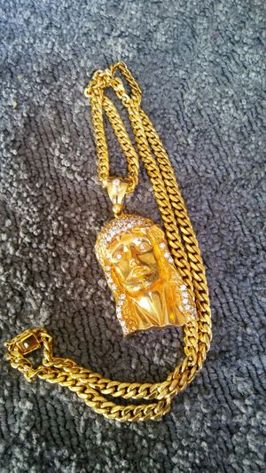Jesús silver gold platted chain for Sale in Thornton, CO