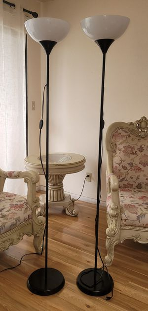 Torchiere Floor Lamps (2) $25 each for Sale in Glendale, CA