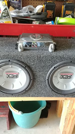 2 x 10 MTX speakers with Amp for Sale in Avon Park, FL
