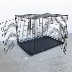 "Brand New $55 Folding 42"" Dog Cage 2-Door Pet Crate Kennel w/ Tray 42""x27""x30"" for Sale in Pico Rivera, CA"