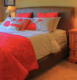 King Bedframe Faux Leather for Sale in Happy Valley,  OR