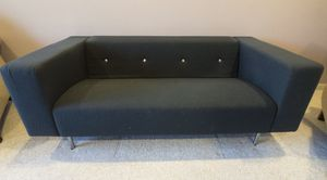 DWR Marcel Wanders Moooi Bottoni Contemporary Couch Loveseat Navy Blue Wool Upholstery for Sale in Ashburn, VA