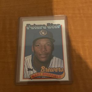 Gary Sheffield MLB Future Stars Brewers Card Topps 1989 for Sale in Sanford, FL