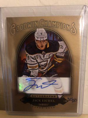 Jack Eichel Goodwin Champions Autograph Card Sabre's for Sale in Glendale, AZ