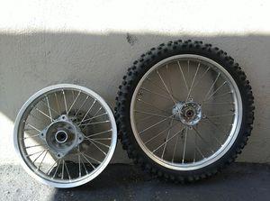 Dirt bike rims $50 for Sale in Redwood City, CA