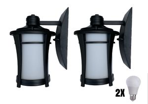 Two Black outdoor wall coach light GL463-1 w LED bulb for Sale in Jacksonville, FL