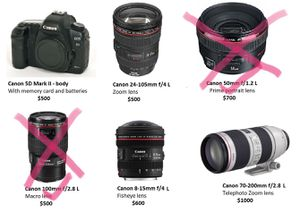 Used Canon gear! Body and L-series lenses. for Sale in Dallas, TX