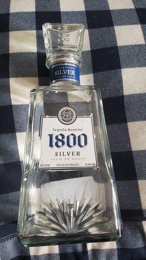 1800 Silver 100% De Agave Tequila Reserva/ Heche En Mexico empty for Sale in Virginia Beach, VA