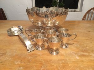Antique Japanese Sterling Silver Punch Bowl Set for Sale in Phoenix, AZ