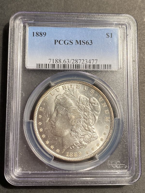 Great Collectible Coin Lot!! 1889 Morgan Dollar PCGS MS63, 1923-S Peace Dollar MS 62, 1922 Peace Dollar MS 60 +++++!!