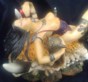 Dragon skull with women for Sale in Amherst, VA