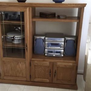 Hardwood Oak Buffet/hutch/China for Sale in Alexandria, VA