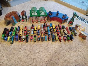 Thomas and Friends Wooden Train Bundle with Table for Sale in Harrison charter Township, MI