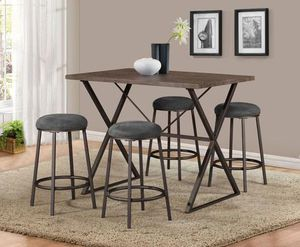 Juliet 5-Piece Counter Height Set by Global for Sale in Jessup, MD