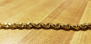 10k Yellow Gold Rope Chain 24inch for Sale in Wichita, KS