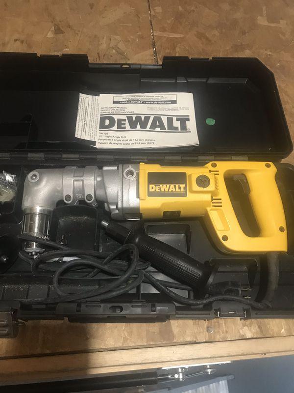 DeWalt Half inch right angle drill used twice