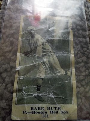 Old Babe Ruth card. Yard sale find! Read for Sale in Swatara, PA