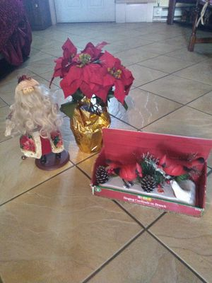 Santa Claus, whistling birds and plant for Sale in Philadelphia, PA