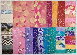 13 Pieces + Samples of Handmade Nepalese Lokta Art Paper for Mixed Media Decoupage Scrapbooking for Sale in Des Moines, WA