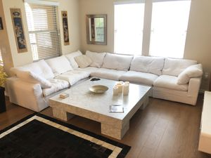 Restoration Hardware Cloud Modular & Marble Coffee Table Set for Sale in Irvine, CA
