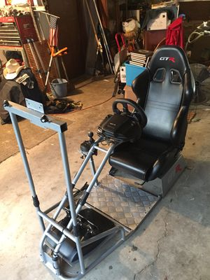 GTR 920 simulator racing seat, racing wheel and shifter for Sale in Portland, OR
