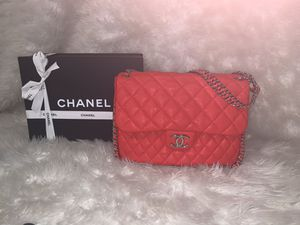 Chanel Red Leather Chain Around Bag for Sale in Fayetteville, GA