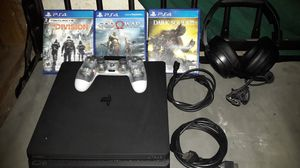 PlayStation 4 game console. With 3 games/ 1 controller/ and A pair of head phones. for Sale in Chandler, AZ